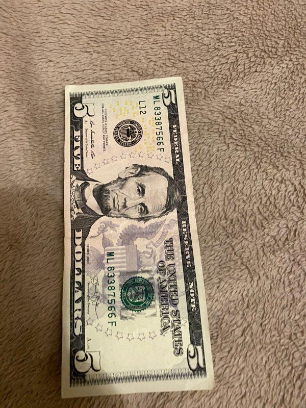 USD $5 Bills