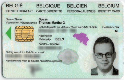 Belgium ID card for sale online