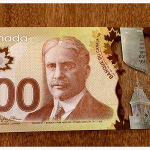 CAD $100 Bills