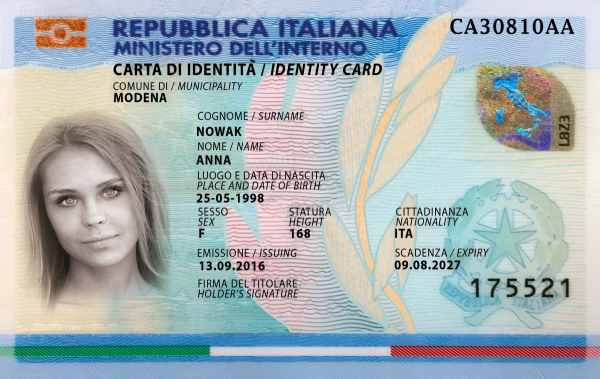Order Fake Italian ID card online