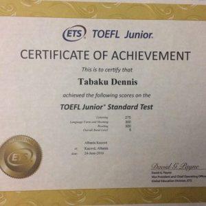 IELTS & TOEFL CERTIFICATES
