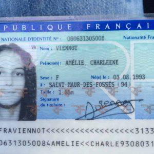 Fake France ID card online
