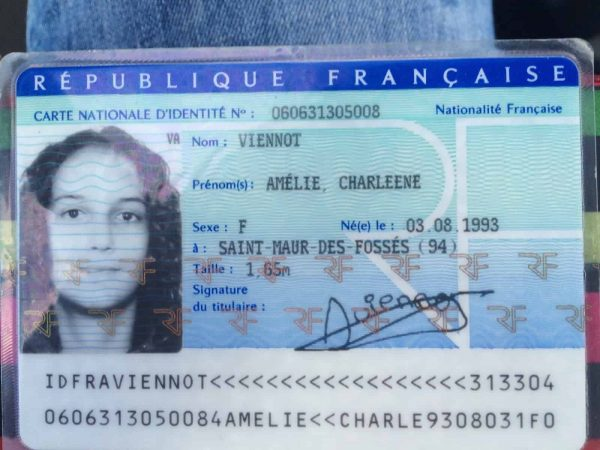 Fake France ID card online