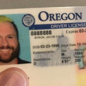 real and fake Oregon driver's license