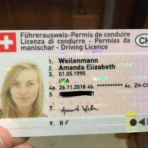Switzerland Drivers license