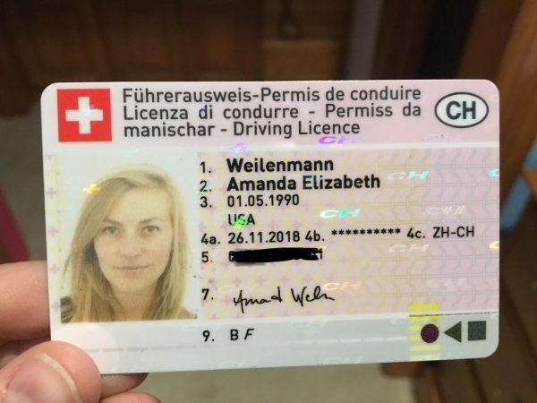 Switzerland Drivers license