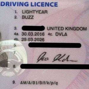 Drivers license - UK